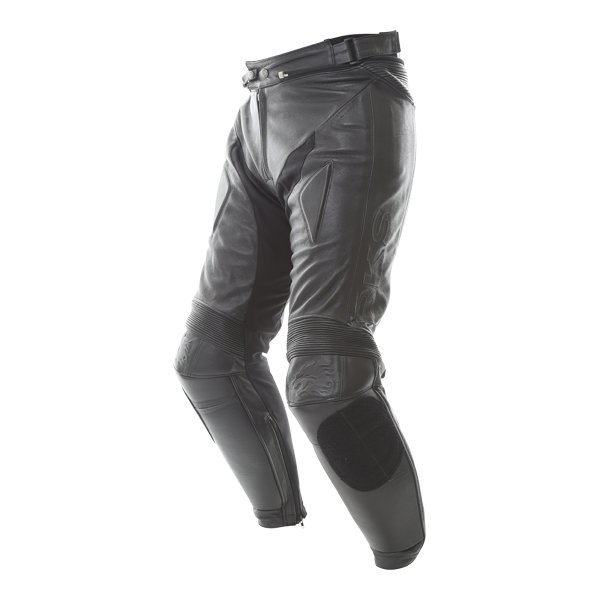 BKS BKS013 Lynx Mens Black Leather Motorcycle Jeans Riding crouch
