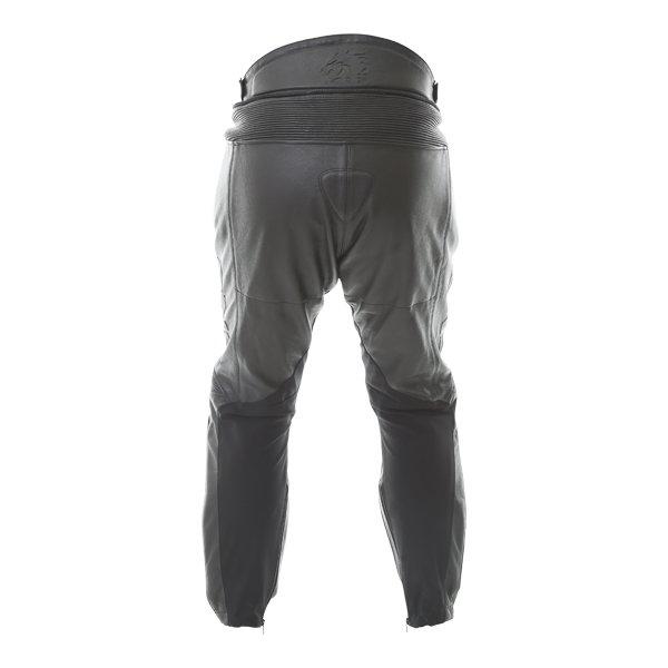 BKS BKS013 Lynx Mens Black Leather Motorcycle Jeans Rear