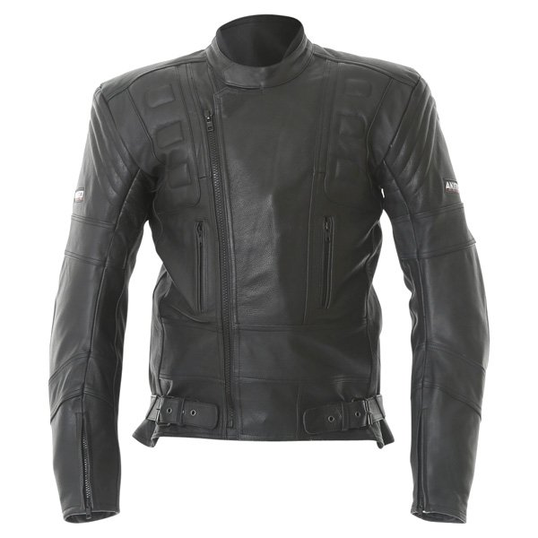 Akito 719 R Black Leather Motorcycle Jacket Front