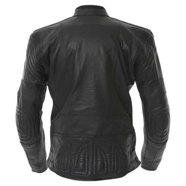 Akito 719 R Black Leather Motorcycle Jacket Back