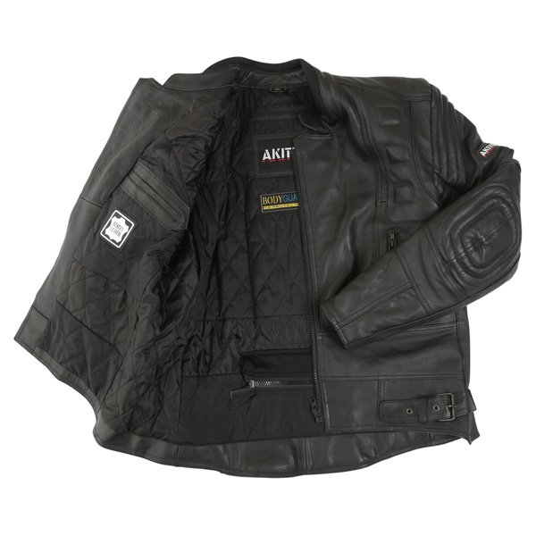 Akito 719 R Black Leather Motorcycle Jacket Inside