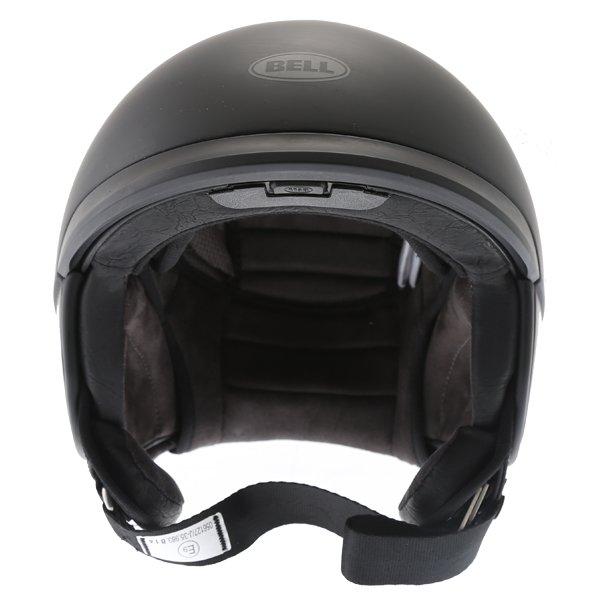 Bell Scout Air Matt Black Open Face Motorcycle Helmet Front