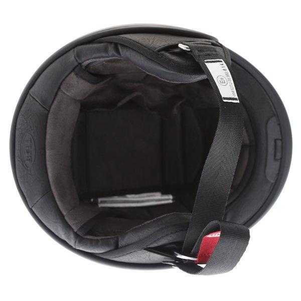 Bell Scout Air Matt Black Open Face Motorcycle Helmet Inside