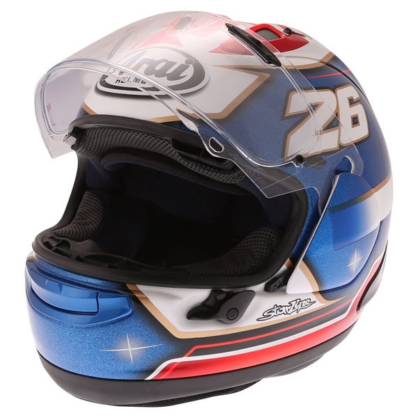 Arai RX-7V Pedrosa Samurai Full Face Motorcycle Helmet Open Visor