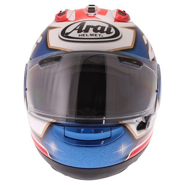 Arai RX-7V Pedrosa Samurai Full Face Motorcycle Helmet Front