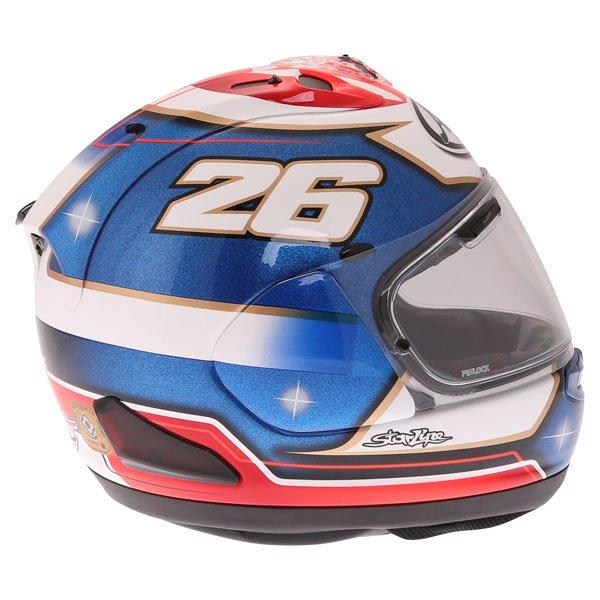 Arai RX-7V Pedrosa Samurai Full Face Motorcycle Helmet Right Side