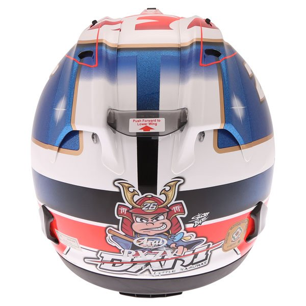 Arai RX-7V Pedrosa Samurai Full Face Motorcycle Helmet Back