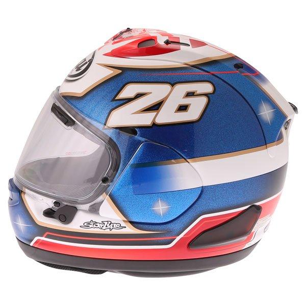 Arai RX-7V Pedrosa Samurai Full Face Motorcycle Helmet Left Side