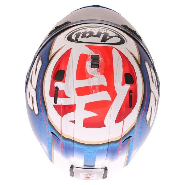 Arai RX-7V Pedrosa Samurai Full Face Motorcycle Helmet Top