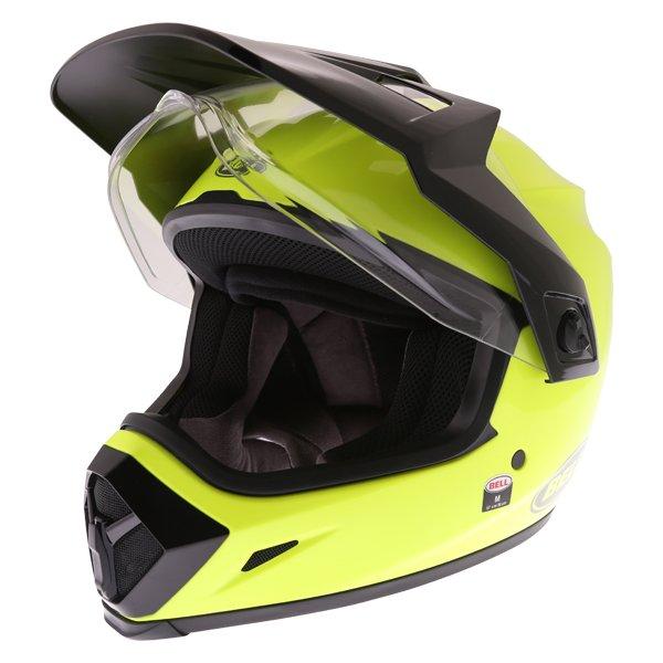 Bell MX-9 Mips Hi Viz Yellow Adventure Motorcycle Helmet Front Left