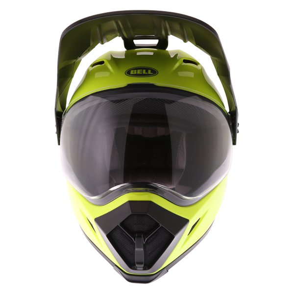 Bell MX-9 Mips Hi Viz Yellow Adventure Motorcycle Helmet Front