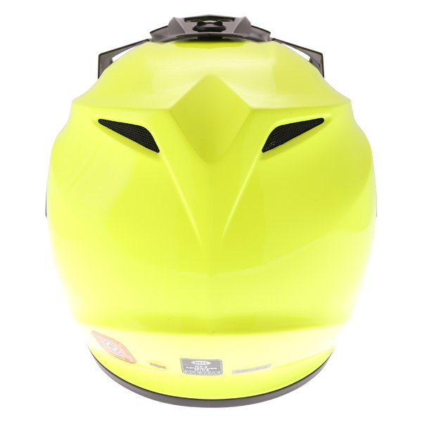 Bell MX-9 Mips Hi Viz Yellow Adventure Motorcycle Helmet Back