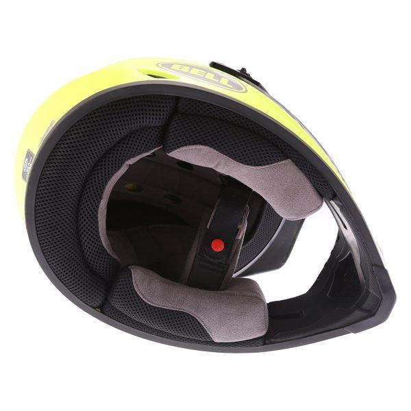 Bell MX-9 Mips Hi Viz Yellow Adventure Motorcycle Helmet Inside
