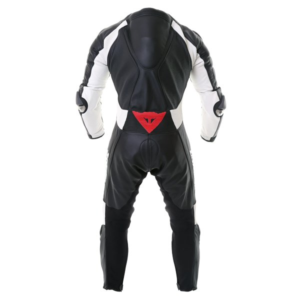 Dainese D-Air Racing Misano Estiva Mens Black White Leather Motorcycle Suit Back