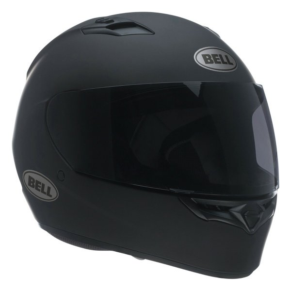Bell Qualifier DLX Blackout Matt Black Full Face Motorcycle Helmet Front Left
