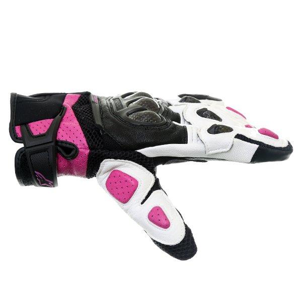 Alpinestars Stella SPX AC Ladies Black White Fuchsia Motorcycle Gloves Thumb side