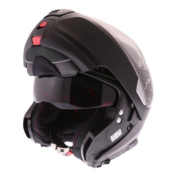 N100-5 Classic N-Com Helmet 010 Flat Black Motorcycle Helmets
