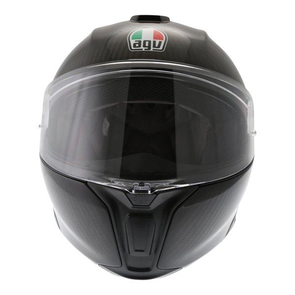 AGV Sport Modular Gloss Carbon Flip Front Motorcycle Helmet Front