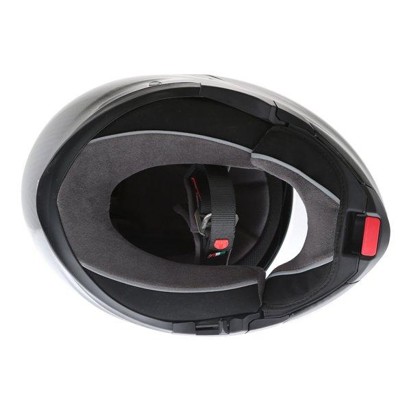 AGV Sport Modular Gloss Carbon Flip Front Motorcycle Helmet Inside