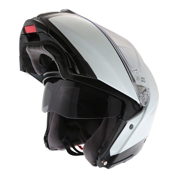 AGV Sport Modular Gloss Carbon White Flip Front Motorcycle Helmet Flip open