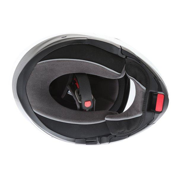 AGV Sport Modular Gloss Carbon White Flip Front Motorcycle Helmet Inside