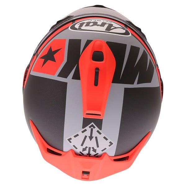 Arai Chaser-X Maverick GP Full Face Motorcycle Helmet Top