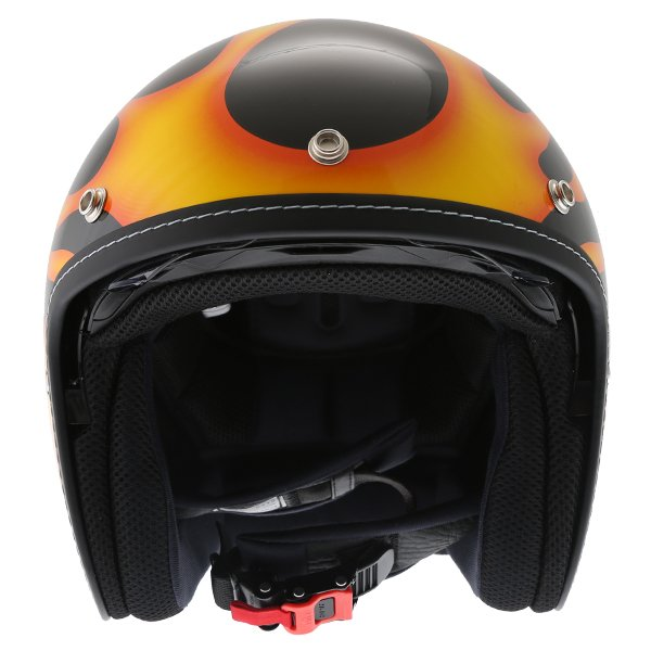HJC FG-70S Aries Yellow Open Face Motorcycle Helmet Front