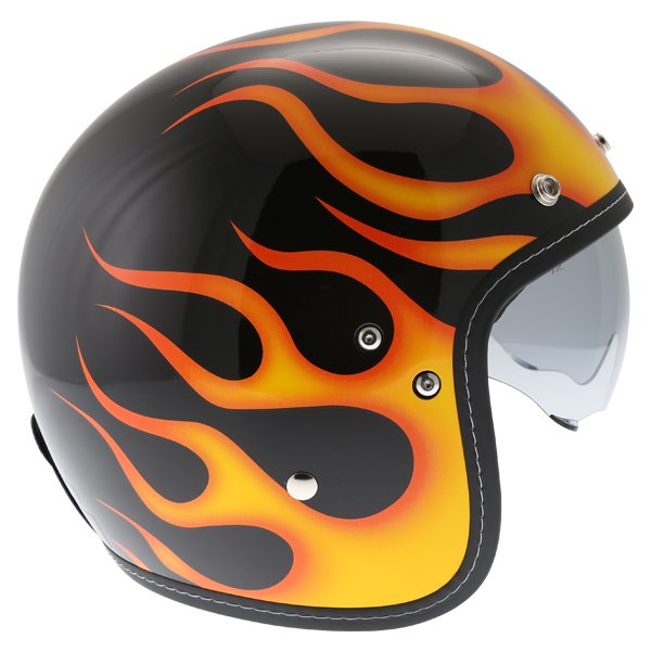 HJC FG-70S Aries Yellow Open Face Motorcycle Helmet Right side