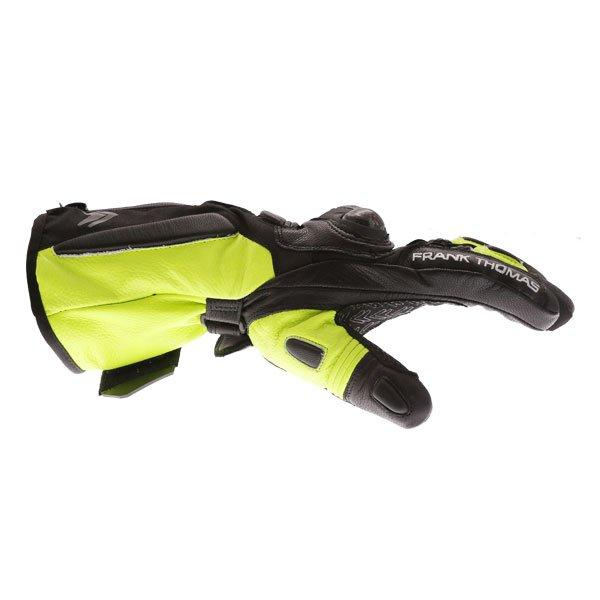 Frank Thomas 01-17 Waterproof Black Yellow Gloves Thumb side