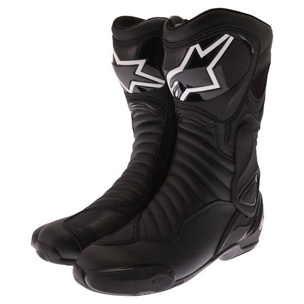 Alpinestars SMX 6 V2 Drystar Pair Black Motorcycle Boots