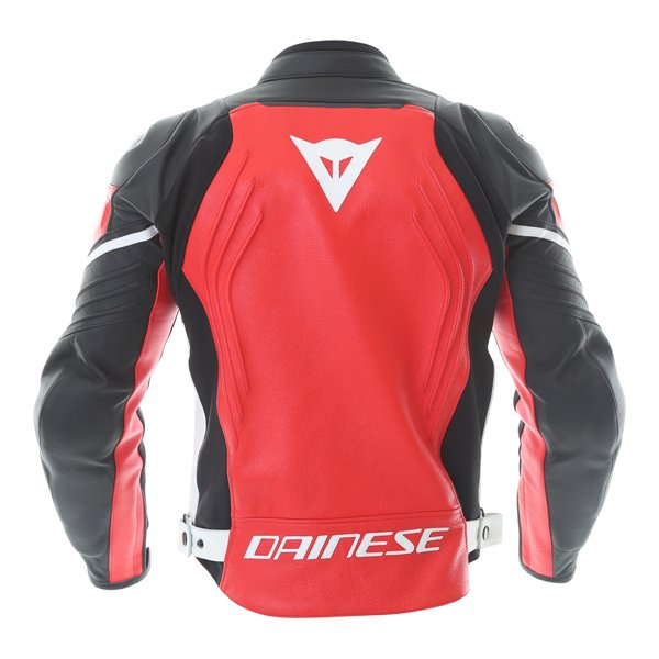 Dainese Racing 3 Red Black Leather Motorcycle Jacket Back