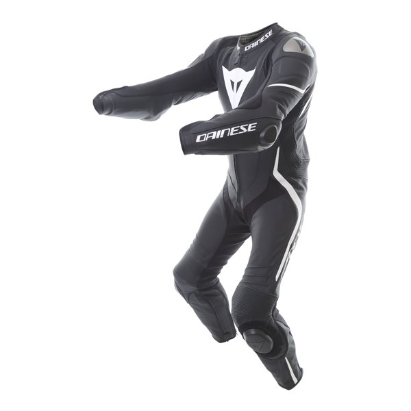 Dainese Laguna Seca 4 1pc Mens Black White Leather Motorcycle Suit Racing crouch