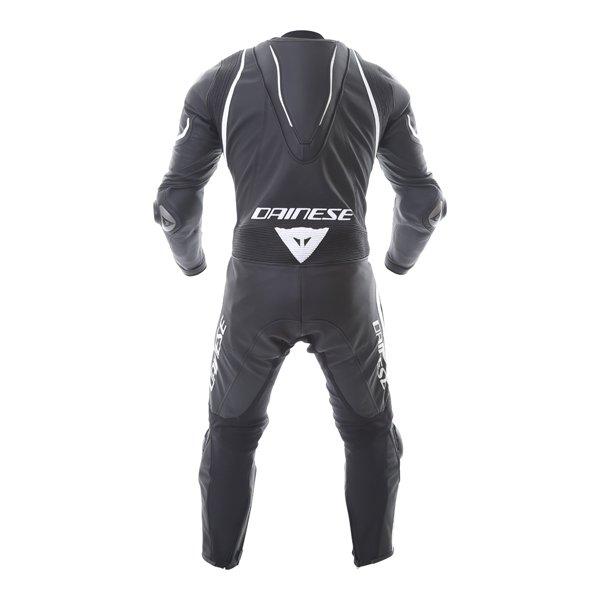 Dainese Laguna Seca 4 1pc Mens Black White Leather Motorcycle Suit Back