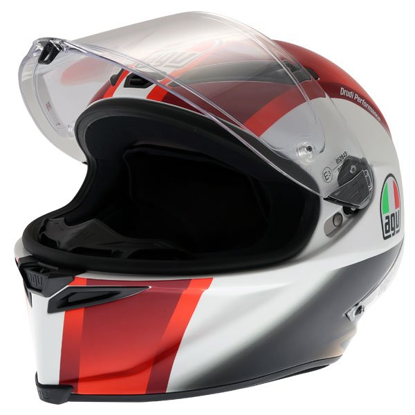 AGV Corsa-R Sic58 Full Face Motorcycle Helmet Open With Sun Visor