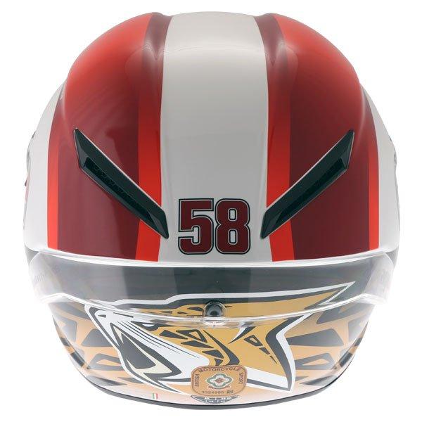 AGV Corsa-R Sic58 Full Face Motorcycle Helmet Back