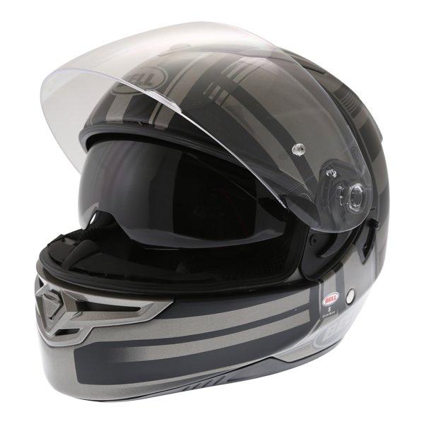 Bell RS2 Tactical Matt Black Titanium Full Face Motorcycle Helmet Open With Sun Visor