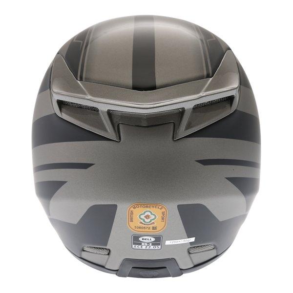 Bell RS2 Tactical Matt Black Titanium Full Face Motorcycle Helmet Back