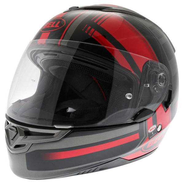 Bell RS2 Tactical Red Black Titanium Full Face Motorcycle Helmet Front Left