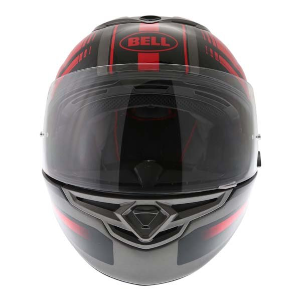 Bell RS2 Tactical Red Black Titanium Full Face Motorcycle Helmet Front