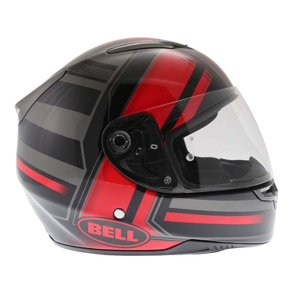 Bell RS2 Tactical Red Black Titanium Full Face Motorcycle Helmet Right Side