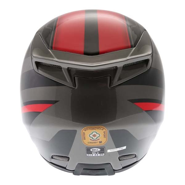 Bell RS2 Tactical Red Black Titanium Full Face Motorcycle Helmet Back