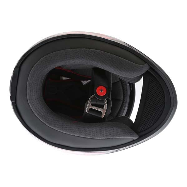 Bell RS2 Tactical Red Black Titanium Full Face Motorcycle Helmet Inside