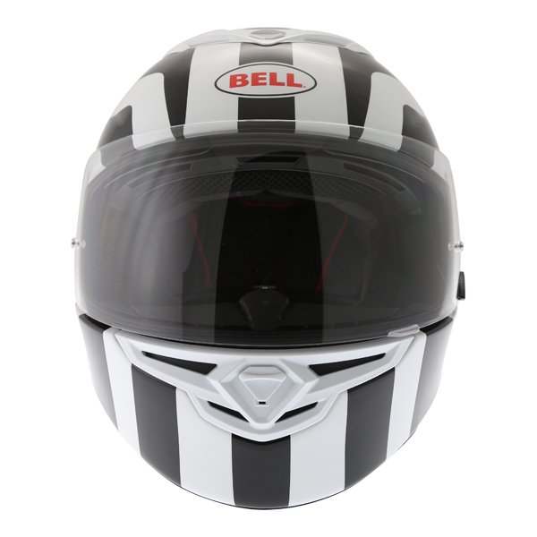 Bell RS2 Empire White Black Red Full Face Motorcycle Helmet Front