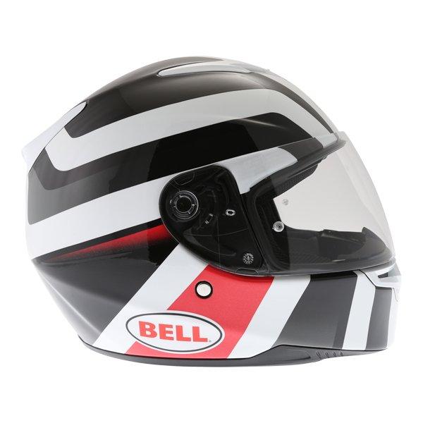Bell RS2 Empire White Black Red Full Face Motorcycle Helmet Right Side
