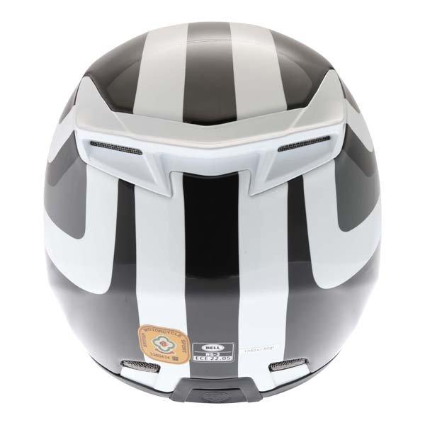 Bell RS2 Empire White Black Red Full Face Motorcycle Helmet Back