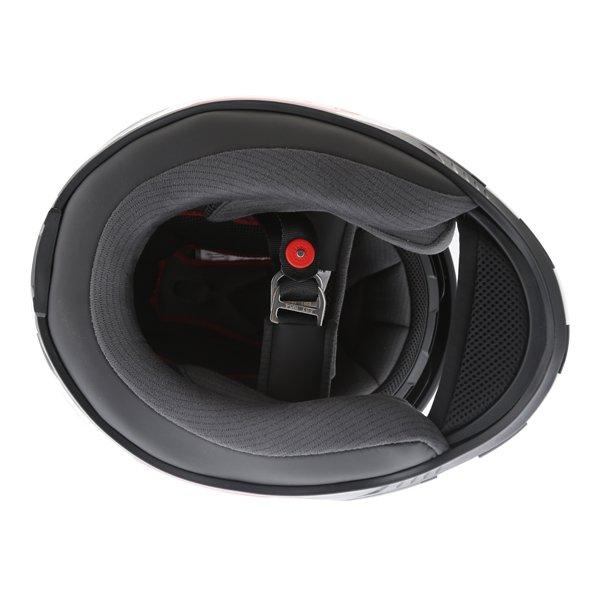 Bell RS2 Empire White Black Red Full Face Motorcycle Helmet Inside