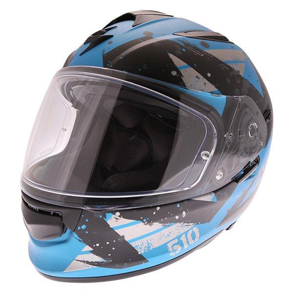 EXO 510 Marcus Helmet Sky Blue Scorpion Helmets