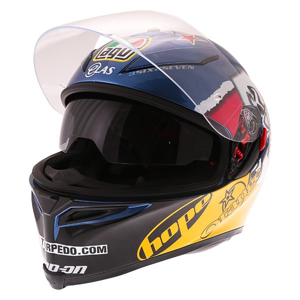 AGV K5-S Guy Martin 3some Full Face Motorcycle Helmet Open With Sun Visor