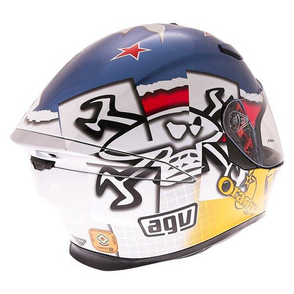 AGV K5-S Guy Martin 3some Full Face Motorcycle Helmet Back Right