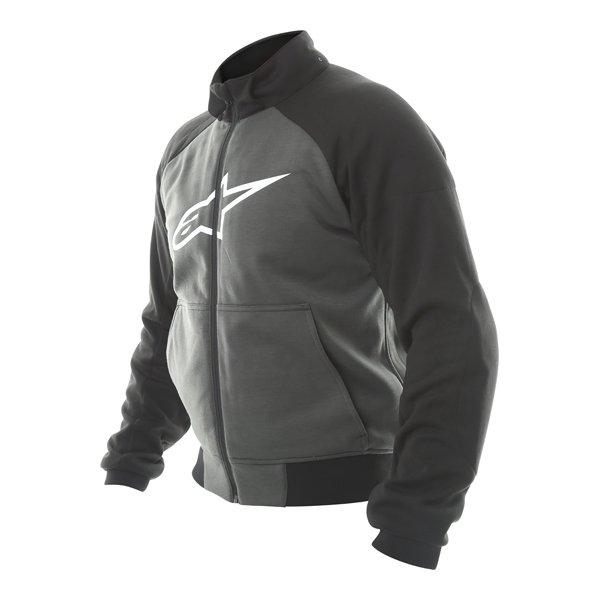 Alpinestars Chrome Sport Anthracite Black Hoodie Hood Off Side